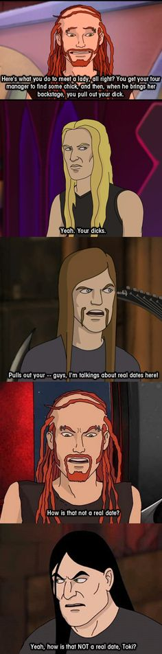 Dethklok dating- how is that not a real date?