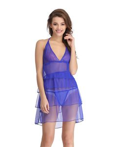 Clovia Sheer Babydoll With Matching Thong - Blue. Type  Babydoll With  Thong. Wash at Do not bleach 3ef0323a1