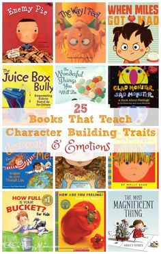 Books that teach emotions and character building traits are an invaluable resource for parents! Books in which children can relate with the characters can help kids internalize lessons that, we as parents, often struggle to teach our kids. These books are Teaching Emotions, Social Emotional Learning, Teaching Kids, Social Skills, Social Work, Parenting Books, Parenting Classes, Parenting Tips, Parenting Quotes