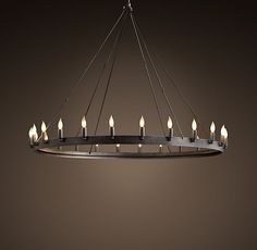 Burnished hand wrought iron chandelier rustic lighting ideas camino vintage candelabra round chandelier 50 aloadofball Image collections