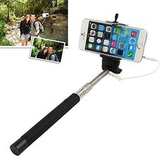 7a9c16a4b2bdcc Amazon.com: Garas Monopod,selfie Stick, Original Selfie Click Stick Self  Portrait [Battery Free] Extendable Handled Stick with Adjustable Phone  Holder ...