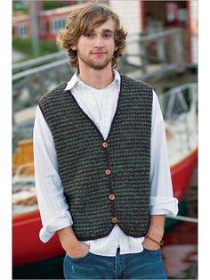Ravelry: Tunisian Vest pattern by Kathleen Power Johnson Interweave Crochet, Tunisian Crochet Patterns, Crochet Vest Pattern, Knitting Patterns, Crochet Men, Crochet Hood, Crochet For Boys, Crochet Vests, Crochet Fall