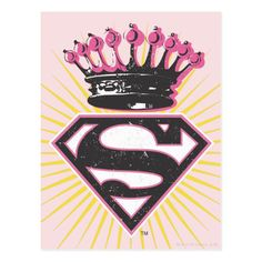 Shop Supergirl Logo with Crown Postcard created by supergirl. Superman Tattoos, Crown Logo, Logo With Crown, Create Your Own, Create Yourself, Be My Hero, Fanart, Joker And Harley Quinn, Cute Wallpapers