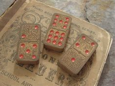 These vintage dominoes are awesome!