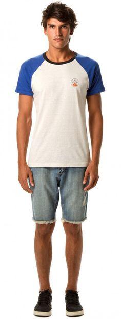 Osklen - T-SHIRT RAGLAN ARPX MC - t-shirts - men