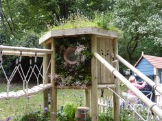 playscape with green roof