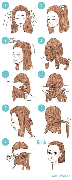 hairstyle tutorial updo braids hair
