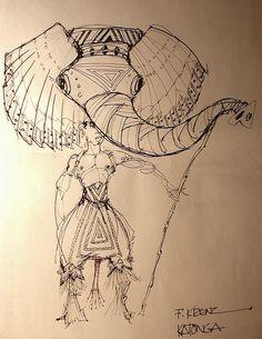 Wearable elephant puppet. Lovely.