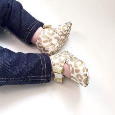 Gold Cheetah Baby Booties