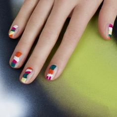 abstract colorblock nails| @andwhatelse