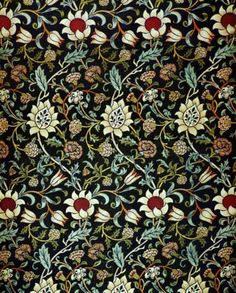 Floral pattern. Evenlode chintz (ca. 1883) Design by William Morris