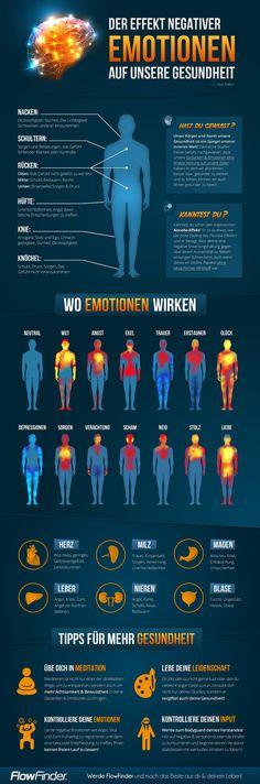 So wirken sich negative Emotionen wie Neid, Hass, Wut oder Angst auf unseren Körper und unsere Organe aus!