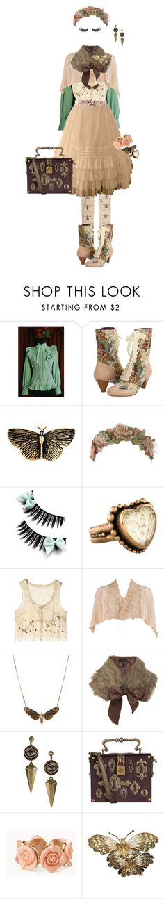 """""""Like a Moth to Flame"""" by sakuuya ❤ liked on Polyvore featuring Poetic Licence, Yves Saint Laurent, Her Curious Nature, Stephen Dweck, Jill Stuart, Miss Selfridge, Dolce&Gabbana, Forever 21, L.K.Bennett and lolita"""