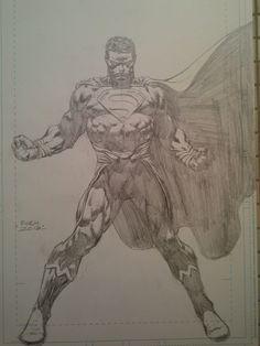 David Finch - Superman Comic Art