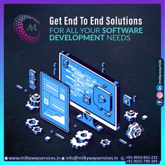 Get End To End Solutions For All Your Software Development needs Message Us- info@milkywayservices.in Call ☎️ at : +91-9015-799-394, +91-9910-852-232 For more information about service visit our site right now-  . . #software #softwaredevelopment #softwaredesign #development #technology #developer #customsoftware #webdesign #websitedevelopment #startup #website #schoolsoftware #erpsoftware #hrmsoftware #ecommerce #businessapp #business #itcompany #branding Software Development, Ecommerce, Web Design, Branding, Messages, App, Technology, Website, School