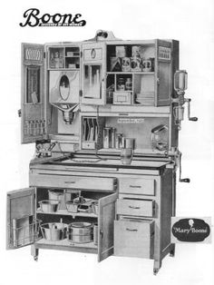 I'll Take a Hoosier Cabinet, Please This Hoosier has EVERYTHING except the kitchen sink