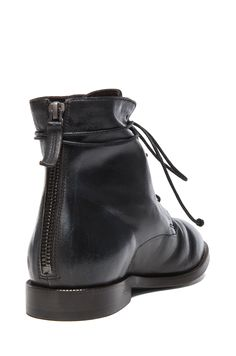 Image 3 of Marsell Combat Leather Boots in Asphalt Blue