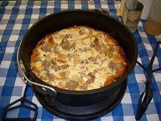 Scout Breakfast Casserole -A Happy Camper-Breakfast Dutch Oven Recipe