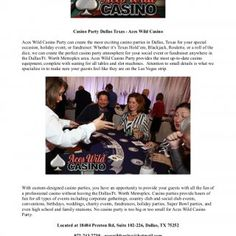 Casino Party Dallas Texas - Aces Wild CasinoAces Wild Casino Party can create the most exciting casino parties in Dallas, Texas for your specialoccasion, ho. http://slidehot.com/resources/casino-party-dallas-texas-aces-wild-casino.12097/