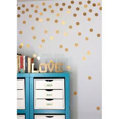 Gold Polka Dot Wall Decals