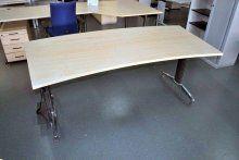 Schreibtisch Ahorn Bogenform | 600 x verfügbar    Hersteller:Schärf    Dekor: ahorn     Norm-Höhenverstellung    gebraucht    ...