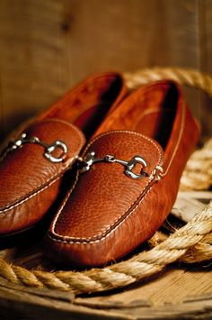 Buffalo Jackson's Brand new - Men's Horse Bit Loafers in 100% Bison Leather  www.americansuitstore.com