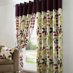 Wide range of pencil pleat and eyelet curtains from Dunelm. All curtain accessories such as net curtains and bead panel curtains as well as curtain poles and fitting available for home delivery. Lounge Curtains, Curtains Dunelm, Net Curtains, Cool Curtains, Curtains Living, Conservatory Dining Room, Dining Room Windows, Curtain Patterns, Curtain Designs