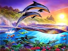 Waves Dolphins Full Drill Diamond Embroidery 5d Diamond Cross Stitch Fashion Diamond Mosaic Pictures Possessing Chinese Flavors Diamond Painting Cross Stitch