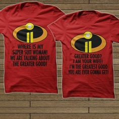The Incredibles oh my these shirts! So going to happen our next trip