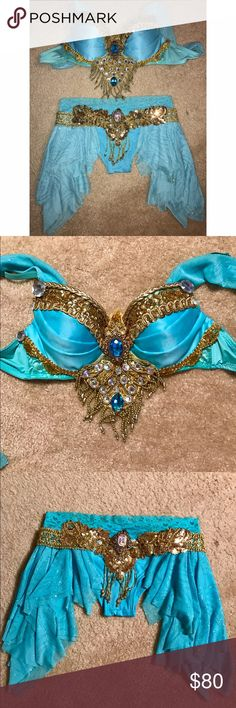 Princess Jasmine rave outfit Princess jasmine inspired rave outfit by electric laundry. Worn once. Excellent condition. Bra 34/b 32/c and bottoms size small. Bottoms have a slightly cheeky cut. electric laundry Intimates & Sleepwear Bras