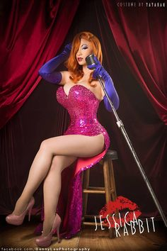 Yaya Han as Jessica Rabbit from Who Framed Roger Rabbit< okay I just need to rant about how amazing she is! I love her work and how hard the works at making her cosplay costumes and how serious she is about what she does and I have respect or her work