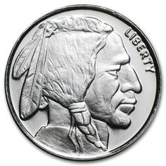 Beautiful Design Modeled after the buffalo nickel: Money Metals' oz Silver Buffalo Indian Head Rounds are Perfect for Barter. Gold And Silver Prices, Us Silver Coins, Coin Dealers, Valuable Coins, Mint Gold, Silver Rounds, Design Model, Precious Metals, Buffalo