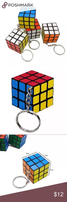 Rubik's Cube Keychain Fun Rubik's cube keychain! Attached it to your bundle of keys or bag. Great for a little pastime, whether it's standing in line or sitting in a waiting room. New in package.   Size is shown in photo  No Trades  🔻 Holiday S • A • L • E Items $12 and under  5 for $20 4 for $15 Accessories Key & Card Holders