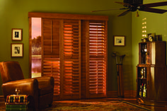 Interior shutters provide attractive and long-lasting protection from the Texas sun, as well as durability in moist environments such as bathrooms. Exterior shutters add character and interest.