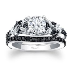 Black Diamond Bridal Set - Black Diamond Bridal Set. It's official. I've found my future wedding ring!!