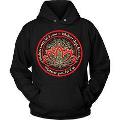 f2acb6ca WHATEVER COMES * Lotus Mandala Red Circle * Bohemian Fashion Yoga Inspired T -Shirt