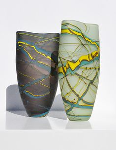 Elements Vases - Storm and Rain Hand Blown