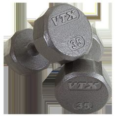 VTX by Troy Barbell 12-Sided Cast Iron Iron Dumbbell - SD-008V