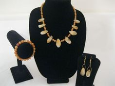Citrine-drops-Topaz-Crystals-and-Aventurine-gem-stone-3-piece-set