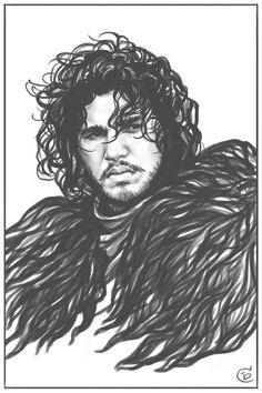 ArtStation - Jon Snow, Serafima Brovkina