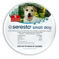 Bayer Seresto Flea and Tick Collar for Pet, Small Dog - http://gloriousdogs.com/product/bayer-seresto-flea-and-tick-collar-for-pet-small-dog/