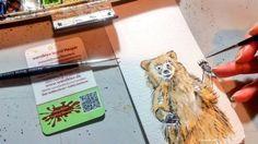 Lächeln und winken. Hilft nicht nur Pinguinen weiter.  #GuteNachtKlex  #wandklex #malerei #handgemalt #aquarell #hahnemühle #kunst #art #watercolor #watercolour #tier #tierportrait #Bär #bear #teddy #teddybear #illustration #baer #grizzly #braunbaer #ursus #orse