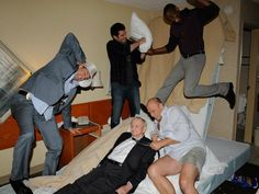 """Goofing around; behind the scenes of the """"Last Night Gus"""" episode Psych Memes, Psych Quotes, Psych Tv, Psych Cast, Shawn And Gus, Shawn Spencer, Movies Showing, Movies And Tv Shows, Carlton Lassiter"""