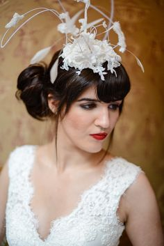Clara Dress and Hairpiece  #Claradress #Clarahairpiece  #elizabethtodd #bridal #romantic #wedding #vintage #chilternst #handmade