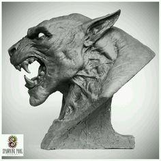 lycan sculpture head