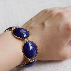 canterbury . navy . large bubble bracelet by trystjewellery, $50.00