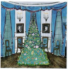 Jackie Kennedy's illustration of the Blue Room...