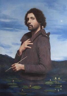 Autoritratto con Andrea, olio su tela, 90x70cm, 2016
