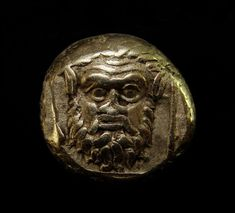 Of remarkable quality and style. Satyr looks scary with realistic piercing eyes. You can literally see the wrinkles in his forehead. Gold el Hecte 1/6 Stater (circa 377-326 BC). : Head of satyr facing. | eBay!
