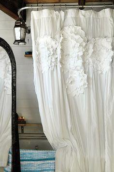 cute anthropologie shower curtain!